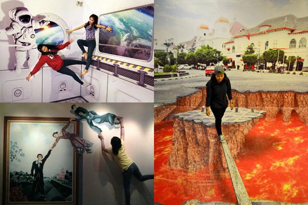Destinasi Obyek wisata jogja De Mata Trick Eye Museum