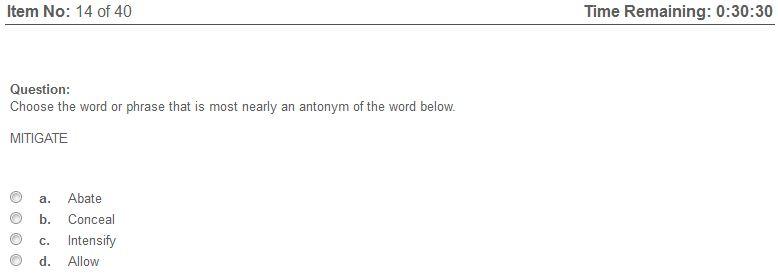Elance English Vocabulary (U.S. Version) Test Answers Help