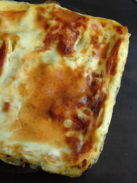 Spinach mushroom lasagna, Mushroom lasagna with spinach