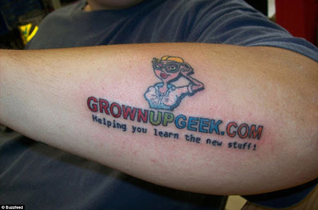 GrownUpGeek Dotcom tattoo