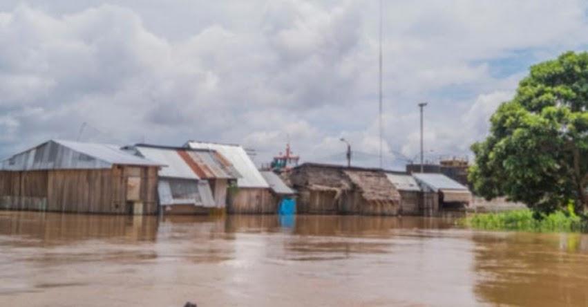 13 colegios afectados por desborde del río Huallaga en Yurimaguas
