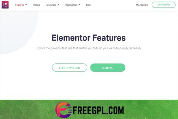 Elementor Pro – WordPress Page Builder Free Download