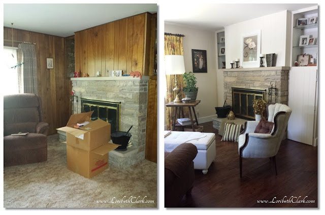 Family / Sitting Room before and after