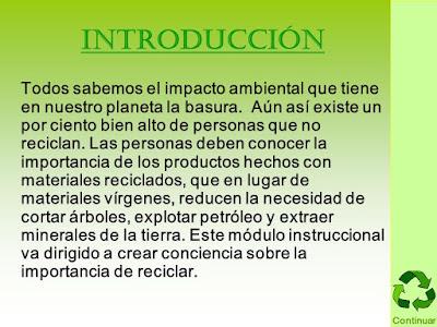 introducción Reciclaje