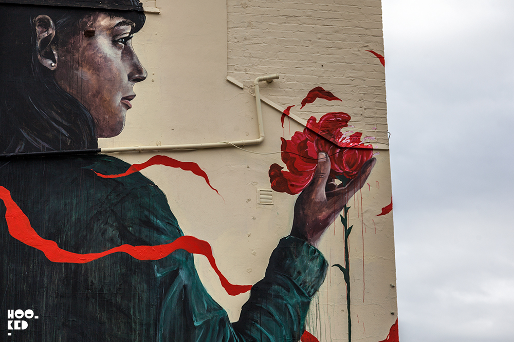 Street Artist Cam Scale And Loretta Lizzio Mural in London