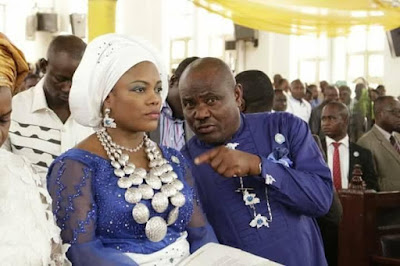 e - Minister Of Transport Chbuike Amaechi And Wife Absent At Rivers state 50th year thanksgiving service