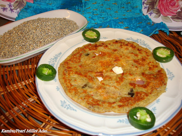 images of Kambu Adai Recipe / Pearl Millet Adai Recipe