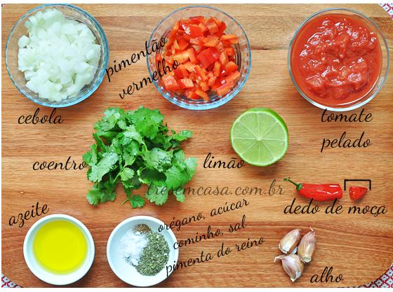 salsa roja receita