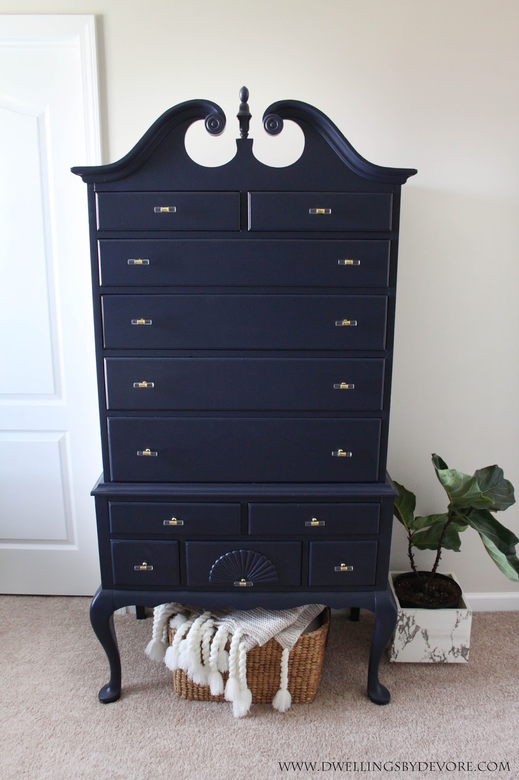 Dwellings By Devore Antique Highboy Makeover