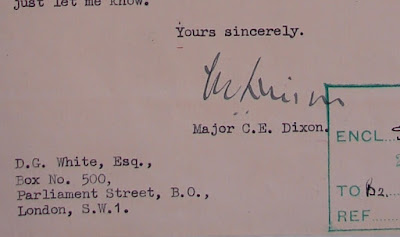 Letter from C.E. Dixon (RSLO Cambridge) to D.G. White (MI5)  (From National Archives, KV 2/30 - Karel Richter file)