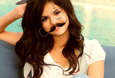 Beard mustache girl