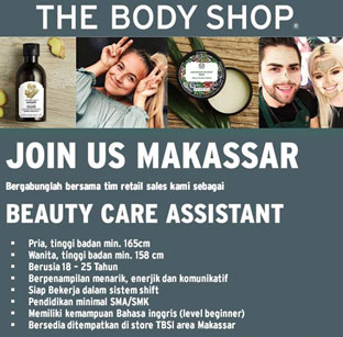 Lowongan Kerja di Body Shop Makassar