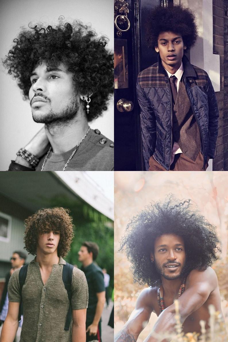 """Tem como não amar esse tipo de cabelo? Sou apaixonado por um POWER e acho que todos os homens com cabelos cacheados/crespos devem aderir a este estilo porque é apaixonante. Nesse estilo você pode usar o """"pente garfo"""" para deixar o cabelo com mais volume do que o normal ou deixar os cachos mais definidos. Isso pode ajudar a ter vários tipos de cabelos e penteados, abrindo um leque de opções."""