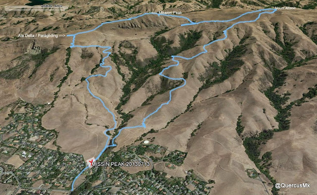 Ruta Stanford Av - Mount Allison - Mission Peak - Parapente - Stanford Av