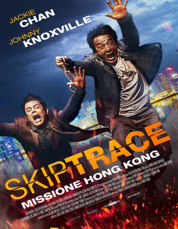 Poster Of Skiptrace 2016 Dual Audio 400MB Web-DL 720p ESubs HEVC Free Download Watch Online Downloadhub.Net
