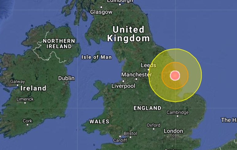 Earthquakes in strange places! A mag 3.9 strikes north-east England more than a 1,000 miles (1600km) from the nearest fault line.  Naamloos