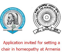 Application invited for setting a chair in homeopathy at Armenia