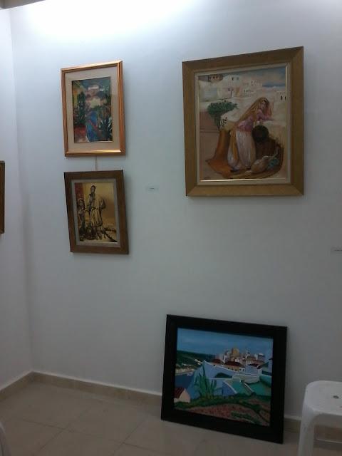 Préparatifs de l'expo de l'atelier artémisia 25