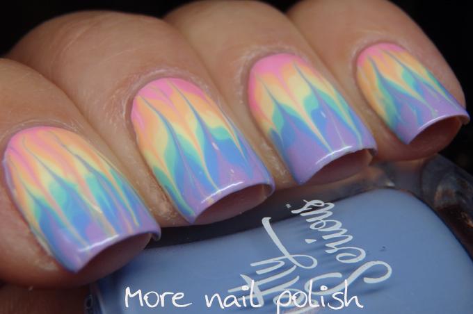 26 Great Nail Art Ideas - Dry or Drag Marble ~ More Nail Polish
