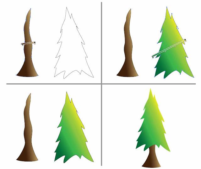 Menggambar pemandngan menggunkan adobe illustrator