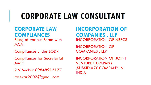 R V Seckar corporate law consultant 09848915177 rvsekar2007@gmail.com,