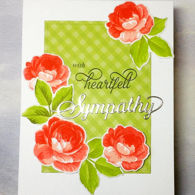 Sunny Studio Stamps: Everything's Rosy Sympathy Customer Card by Birgit Norton