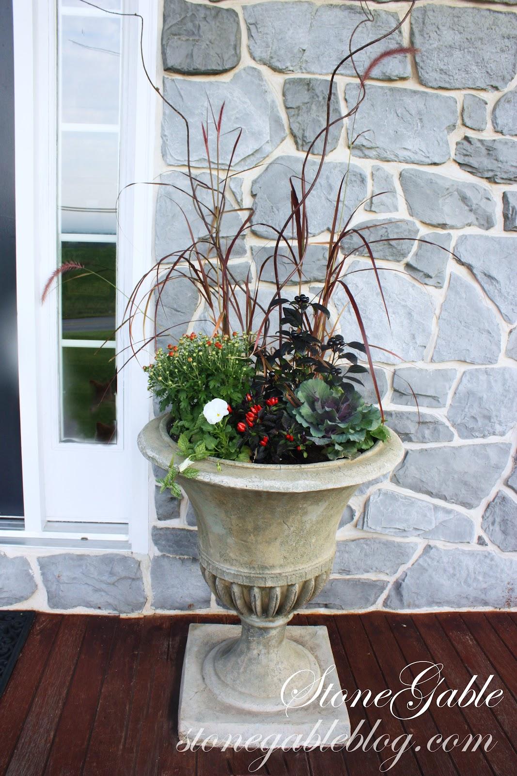 Perfect Pots Fall Planting Tips Stonegable