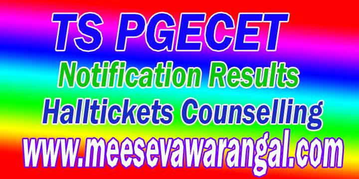 Telanagana TS PGECT Result 2018 Telangana Post Graduate Engineering Common Entrance Test Results