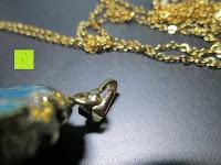 Verschluss: Gorudo Schmuck® - Roh-Jasper Gold filled Halskette Golddipping