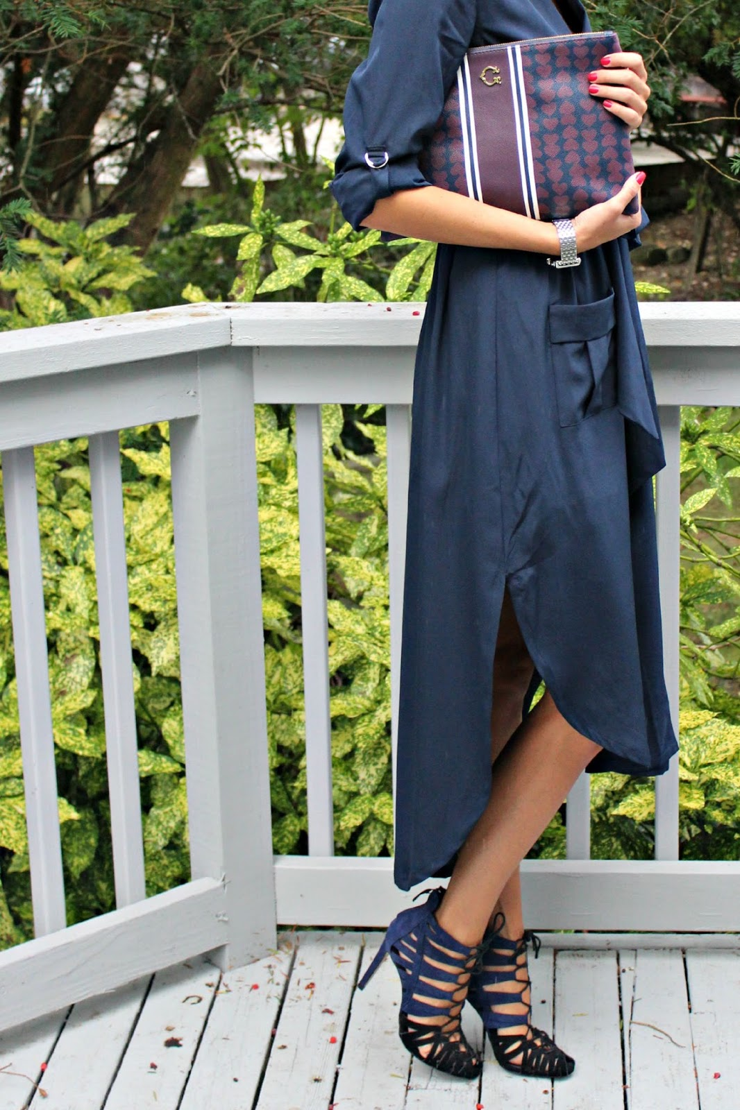 navy and black lace up sandals