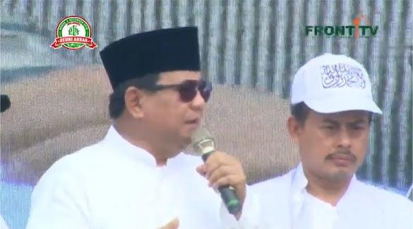 Awalnya Menolak, Ini Ternyata yang Membuat Prabowo Mau Pidato di Reuni 212
