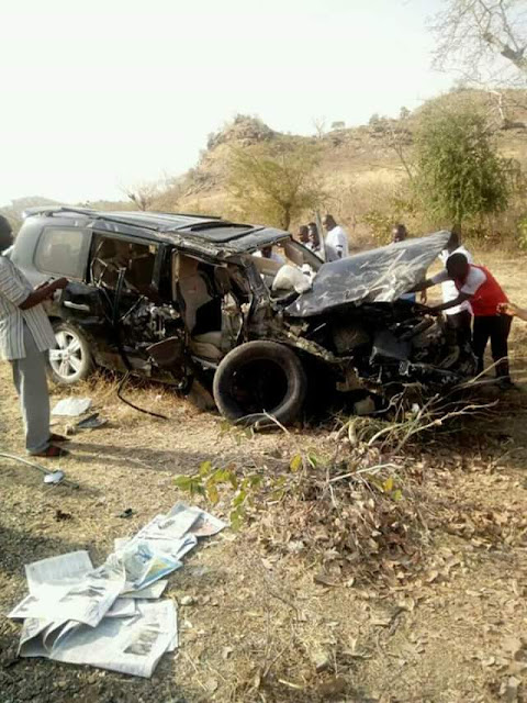 FB IMG 1518434414405 - Photos from the scene of auto crash that killed former Minister, General John Shagaya in Plateau state