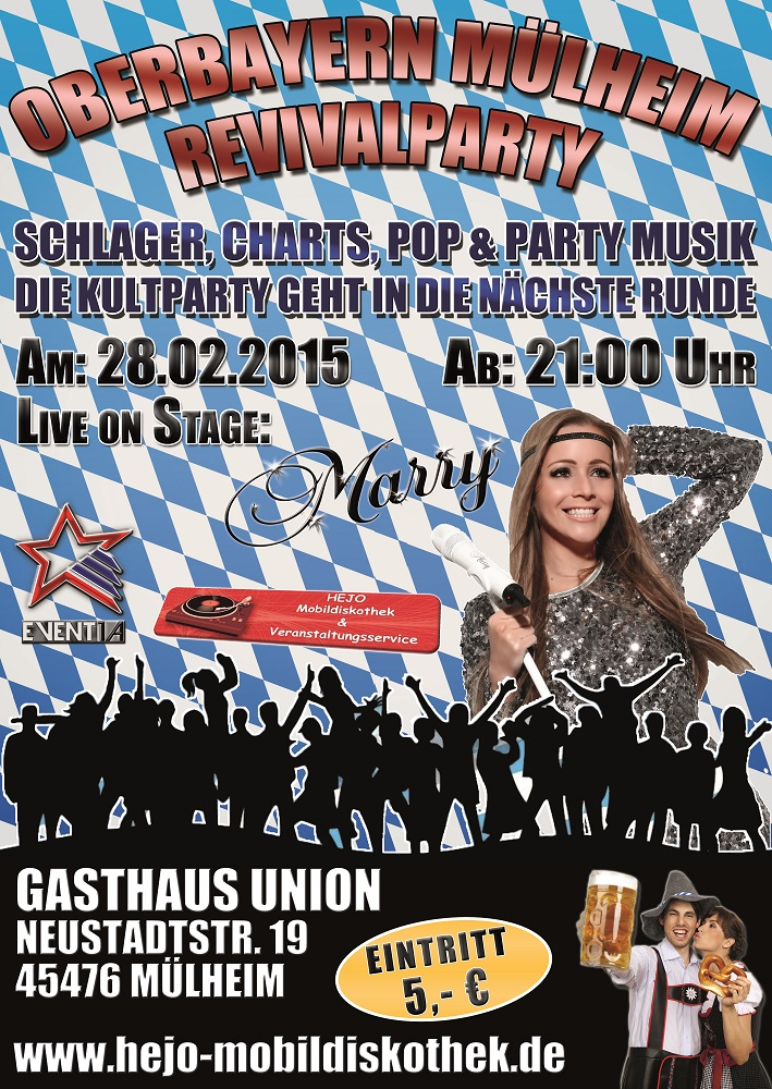 Bild: Oberbayern Mülheim Revivalparty Event-Flyer