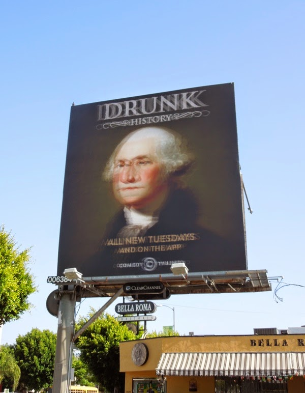 Drunk History George Washington season 2 billboard