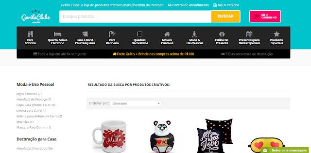 Site da Loja Gorila Clube