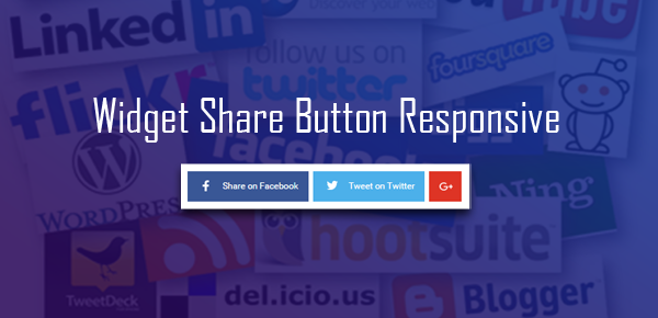 Membuat Social Share Button Responsive Tanpa JavaScript di Blog