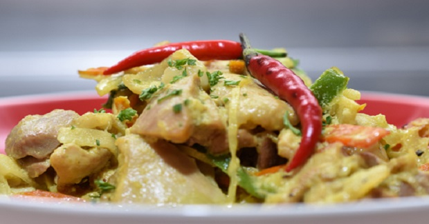 Chicken Halang-Halang: A Visayan Staple Of Chicken With Coconut Milk And Tumeric Recipe