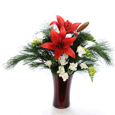 Bouquet with Corleone Royal Lilies, Versailles Freesia, Lieberstar Fancy Tulips and Princess Pine
