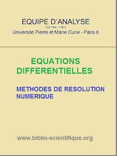 Cours : Equations Différentielles, Méthodes de résolution numérique PDF