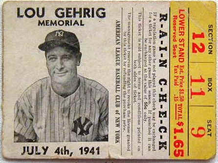 Lou Gehrig Memorial Day rain check 4 July 1941 worldwartwo.filminspector.com