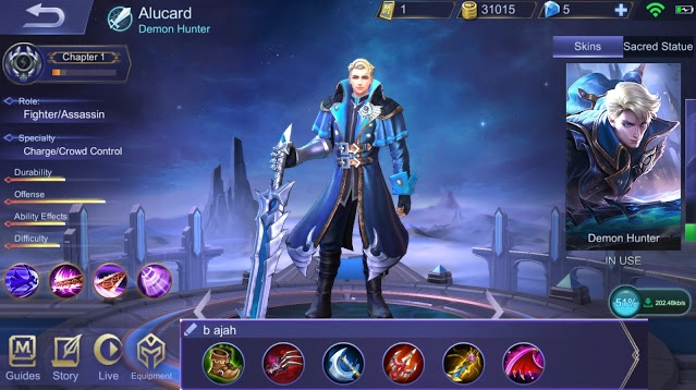 Build Hero Alucard Mobile Legends, Damage Sakit Tambah Lifesteal