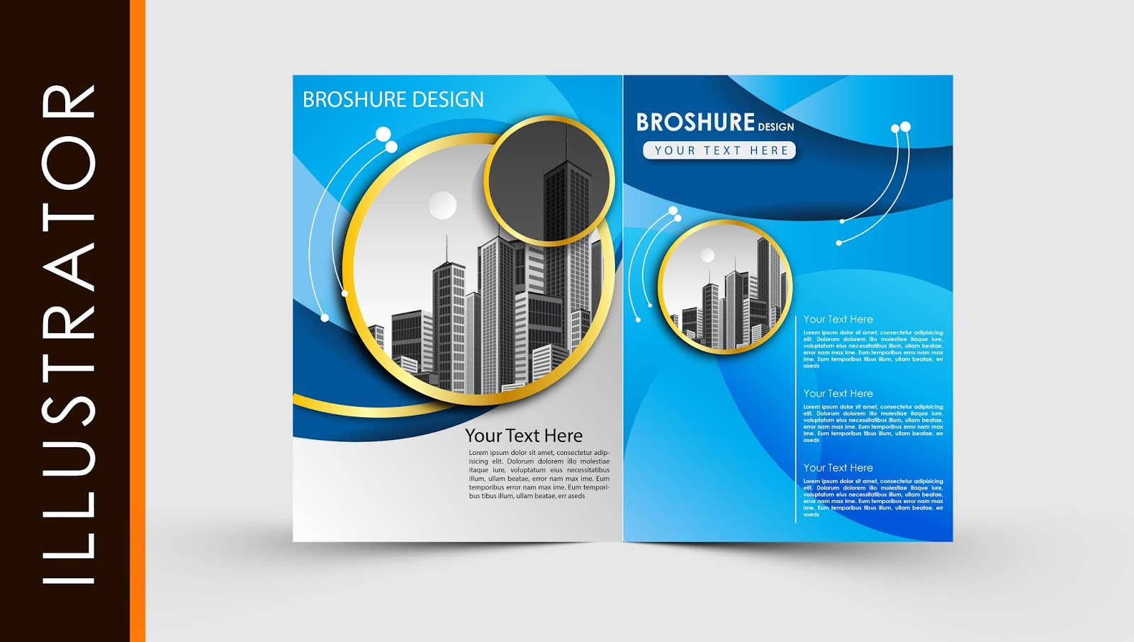 free download adobe illustrator template brochure two fold