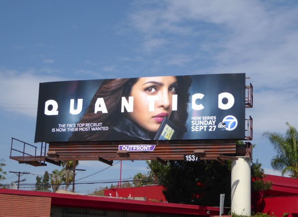 Quantico series launch billboard