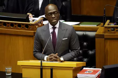 South African minister says he was blackmail target over sex tape