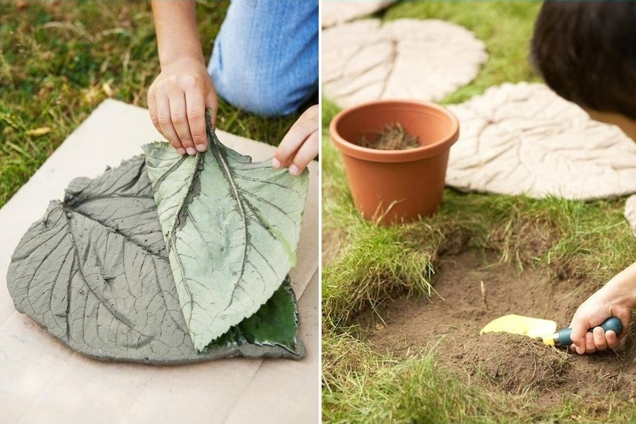 DIY μονοπάτι για τον κήπο