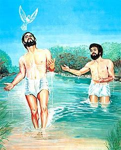 Jesús recibe al Espíritu Santo en su bautismo