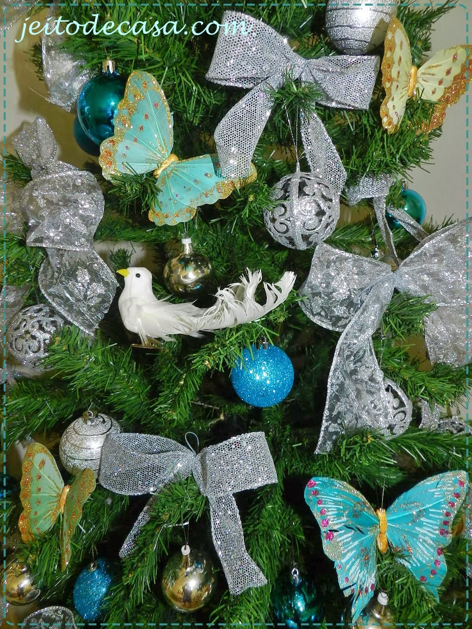 Árvore de natal prata e azul - Jeito de Casa - Blog de ...