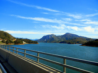 View of Shasta Lake from I-5