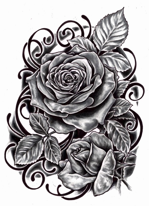 Tattoo Design Black Rose Tattoo Design Sketch