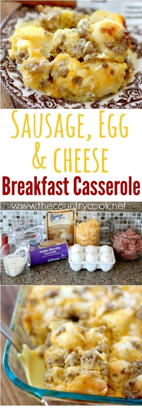 Sausage, Egg, Cheese Biscuit Casserole